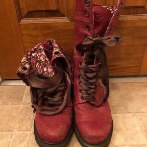 Dr Martens Cherry Red Leather 1914 Triumph Boot